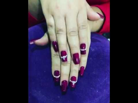 Uñas Esculturales Color Vino Tinto Youtube