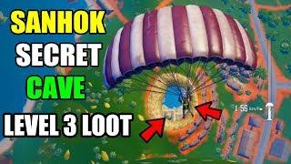 PUBG MOBILE SANHOK SECRETS CAVE LEVEL 3 LOOT LOCATION ! YOU MISS IT ?
