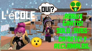 ROBUX FREE! Subscribe and get Your Robux for free, Escape school obby, School Voc in French.