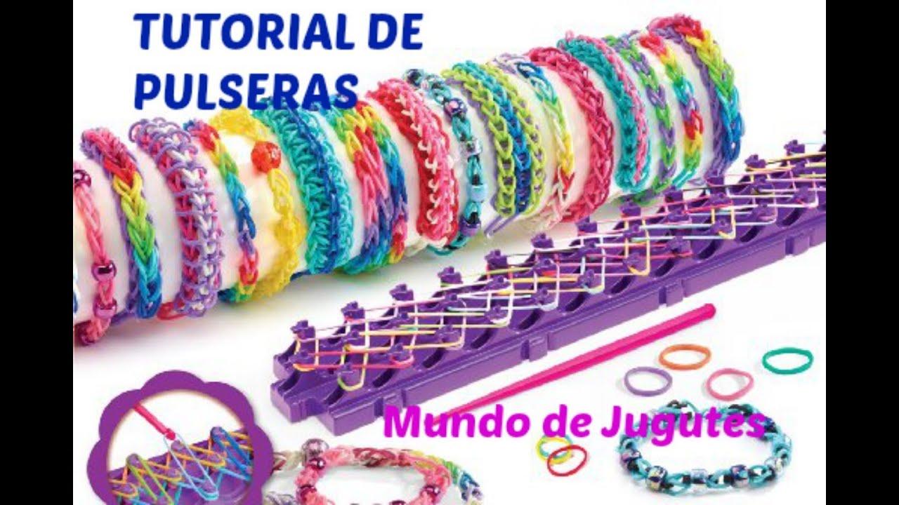 91a93ed930b8 Como Hacer Pulseras De Ligas-Gomitas| Loom Bands|DIY| Con los Dedos| Mundo  de juguetes