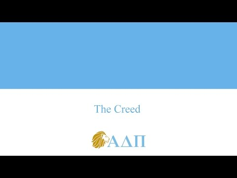 The Creed Alpha Delta Pi Song