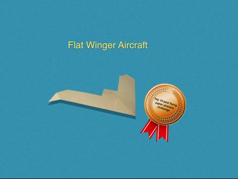 Paper Airplane Tutorial - How to Make the Flat Winger Aircraft