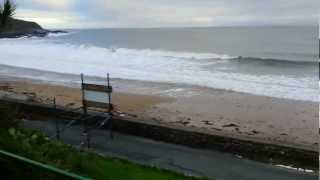 Video of Langland Bay, Christmas Day 2012, Gower Peninsula. Footpath Washed Away By The Sea.