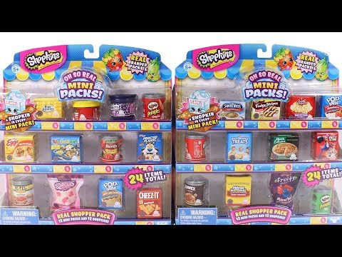 Shopkins Oh So Real Mini Packs Unboxing Toy Review