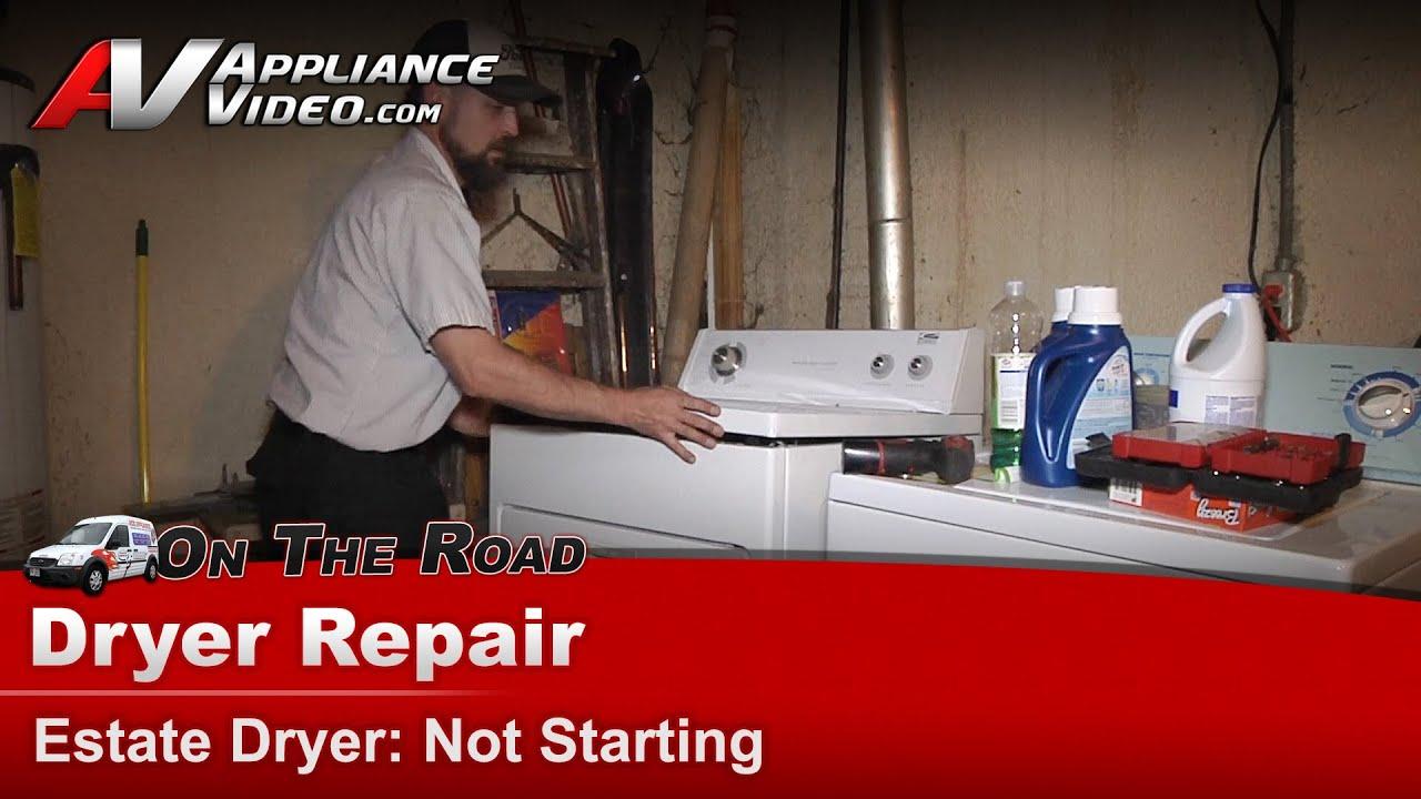 whirlpool maytag roper dryer diagnostic repair not starting rh youtube com roper dryer repair kit roper dryer repair service