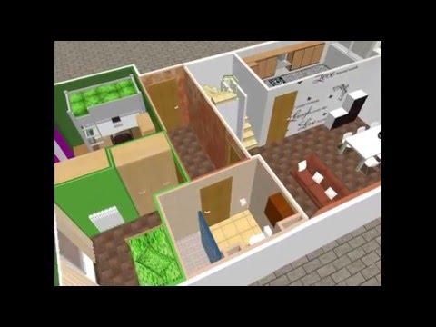 Maqueta virtual de vivienda duplex en venta en c/ Muntaner en Badalona (Barcelona