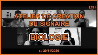 Atelier de création du signaire BIOLOGIE