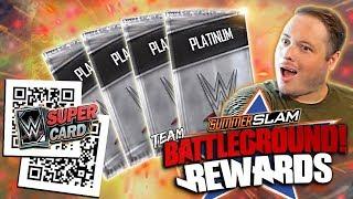 CRAZY QR CODE GLITCH?! FIRST SUMMERSLAM 19 TEAM BATTLEGROUND REWARDS! | WWE SuperCard