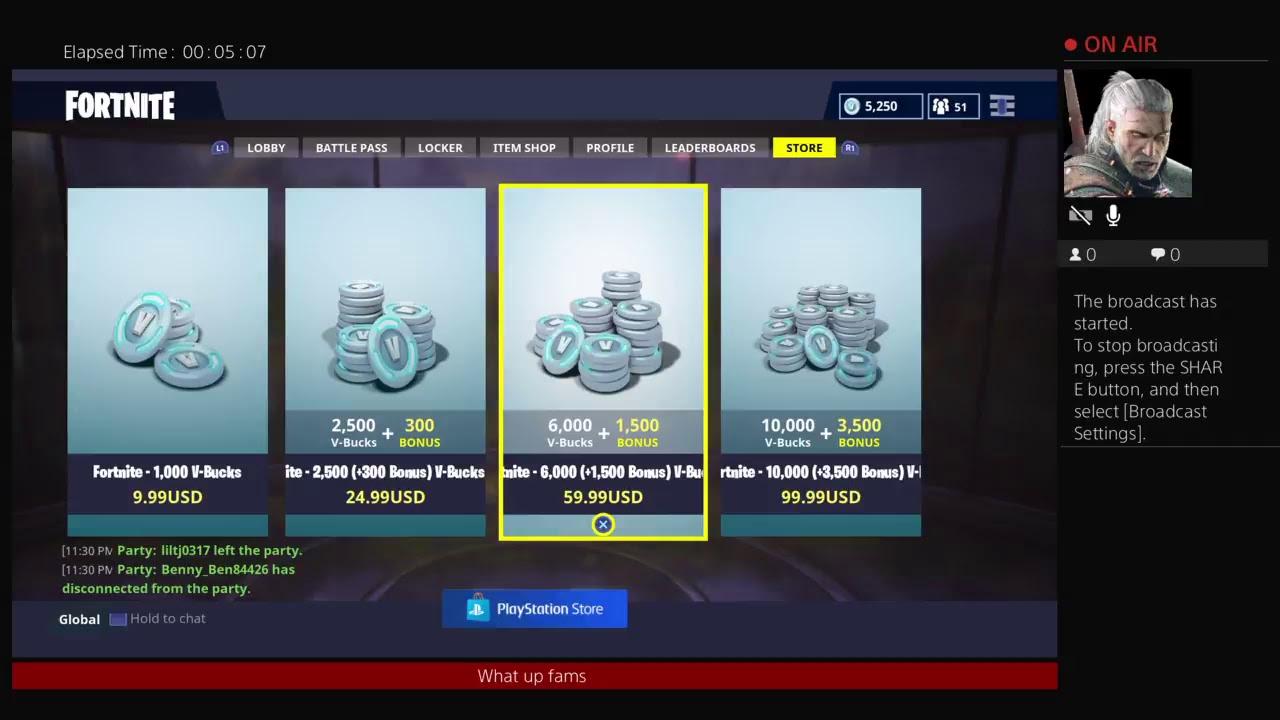Fortnite 5000 Vbucks Gaming With Fortnite 5000 Vbucks Youtube