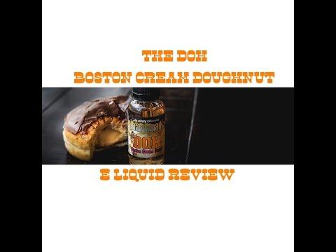 The Doh Boston cream doughnut  e juice review. (Alloy blends benchmark)