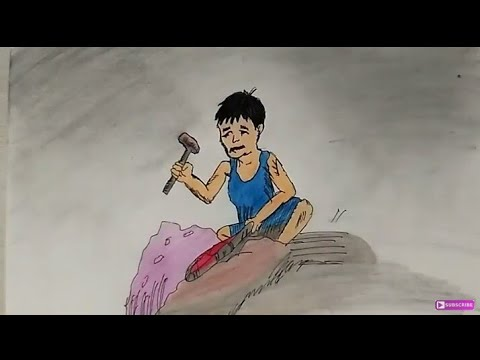 STOP CHILD LABOUR Coloring Drawing Step By Step    World ...