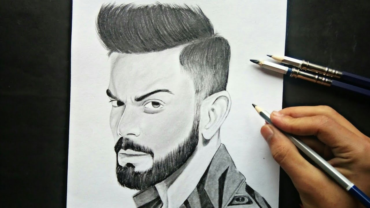 Virat kohli awesome drawing bollywood sketchbook