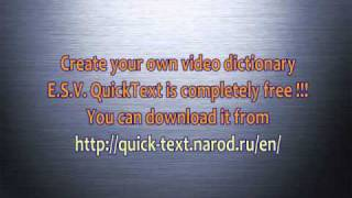 Video dictionary Scrubs [english studying] by E.S.V. QuickText