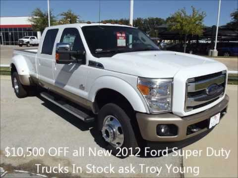 $10,500 OFF all New 2012 Ford Super Duty Trucks In Stock