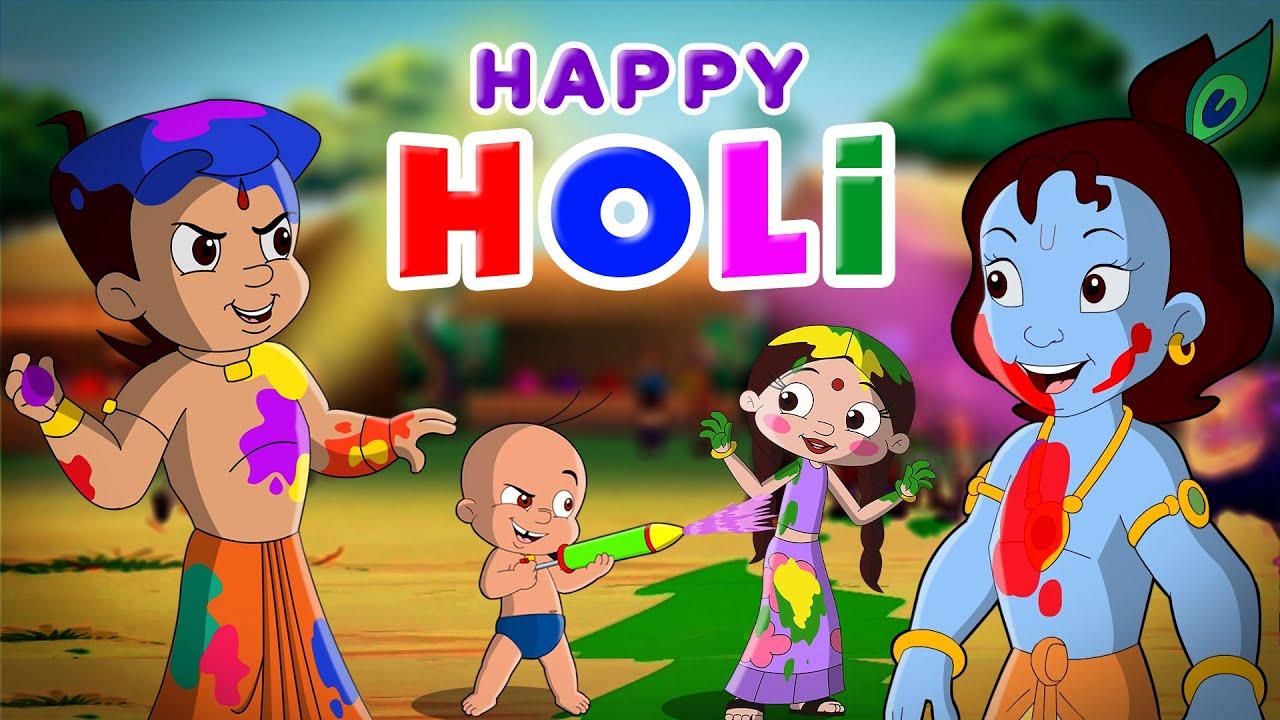 Chhota Bheem And Krishna Rango Se Bhari Holi Holi Special Hindi Cartoon For Kids Youtube