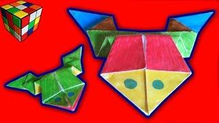 Как сделать прыгающую лягушку из бумаги! Оригами Лягушка-попрыгушка! Поделки из бумаги.(Учимся рукоделию! Лягушка Origami своими руками! Всё поэтапно и доступно каждому. Видео научит как сделать..., 2015-11-19T14:30:17.000Z)