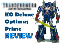 ko aoe optimus prime review and mod transformers age of extinction knock off toy