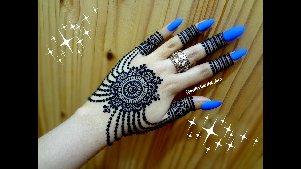 21ba54bb7 DIY Beautiful trendy stylish simple henna jewelery ornamental mehndi designs  for hands for eid,party