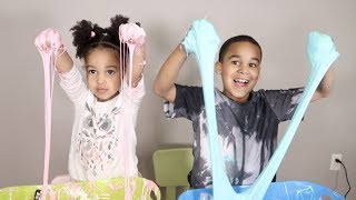 Fluffy Slime DIY With FamousTubeKIDS