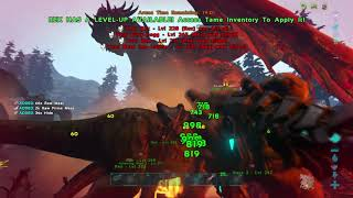 ARK Ragnarok boss fight 20 rexs only 5 survived