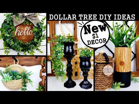 NEW DOLLAR TREE DIY'S | MODERN HOME DECOR IDEAS 2020 | $1 HIGH END DIY'S
