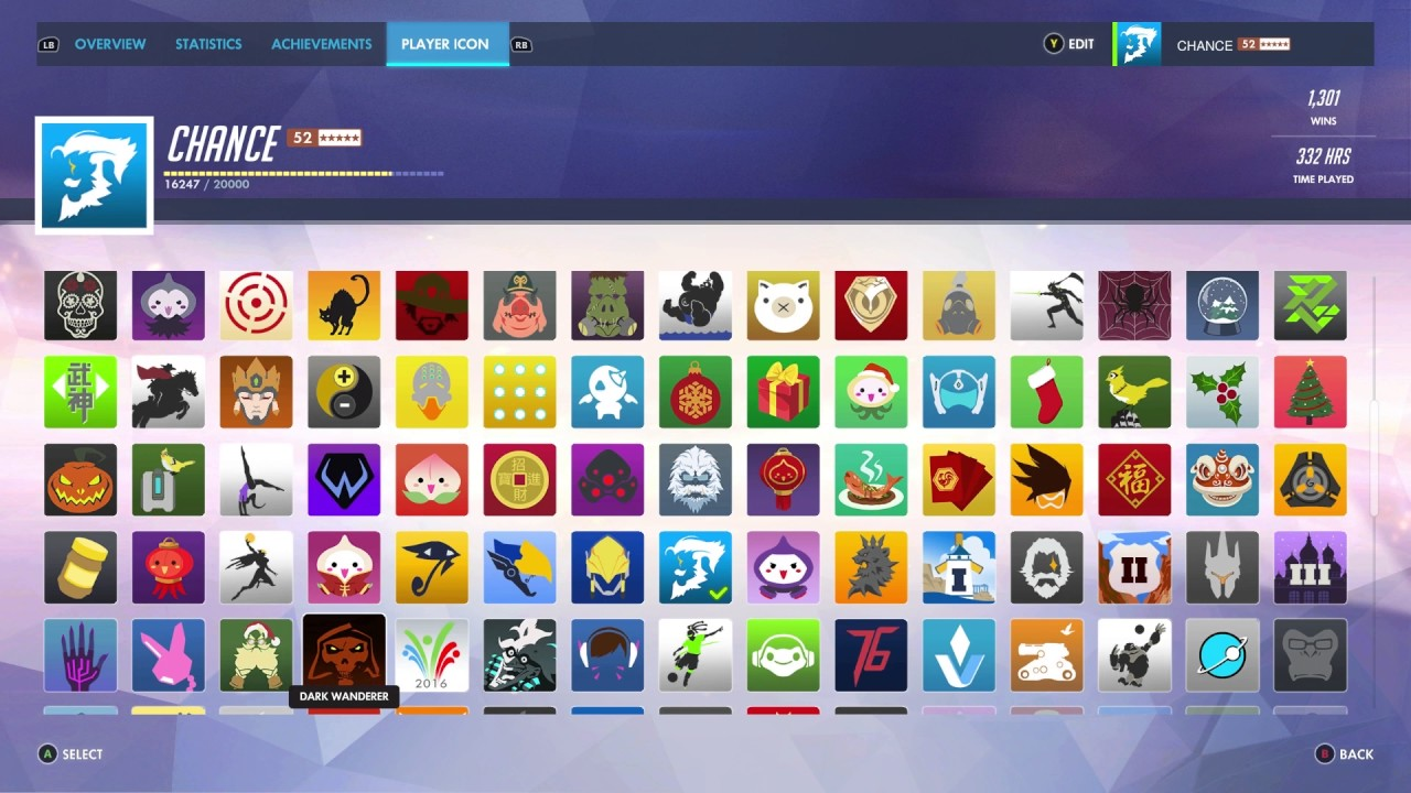 Overwatch All Player Icons HD Version 11012 YouTube