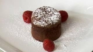 Recette de fondant au chocolat, coeur de framboise