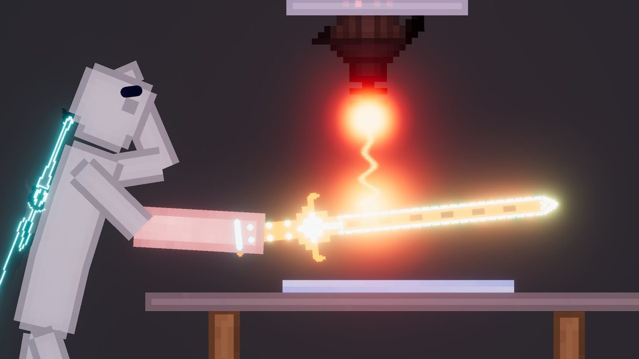 Glowing 10,000 Degree Futuristic Sword  - Experiments In People Playground