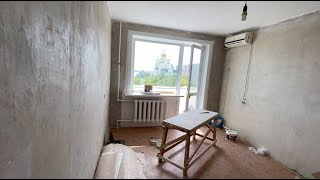 #Ремонт Костя доделывает электрику Я крашу потолок и батарею в зале