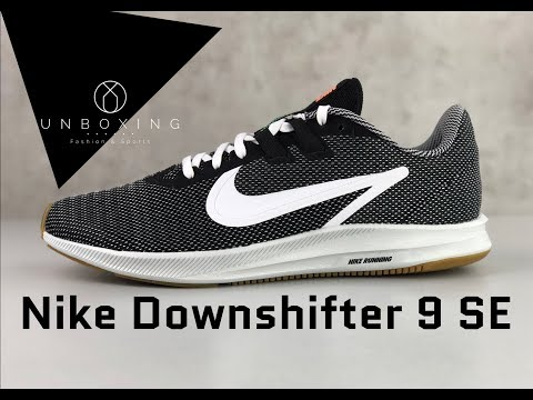 nike-downshifter-9-se-'black/white---gum-light-brown'-|-unboxing-&-on-feet-|-fashion-shoes-|-2019