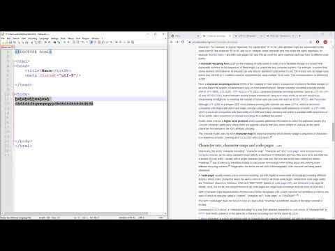 HTML Tutorial - 4 - Character Set - (UTF-8)
