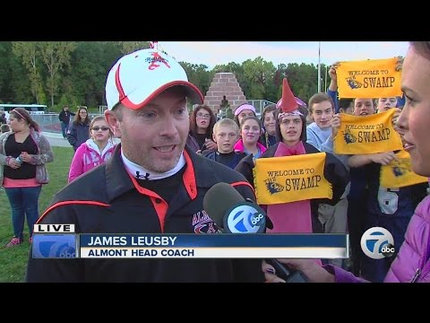 Almont vs. Algonac in the Leo's Coney Island High School Football Game of the Week