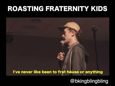 Brian King Roasting Georgia Tech Frat House