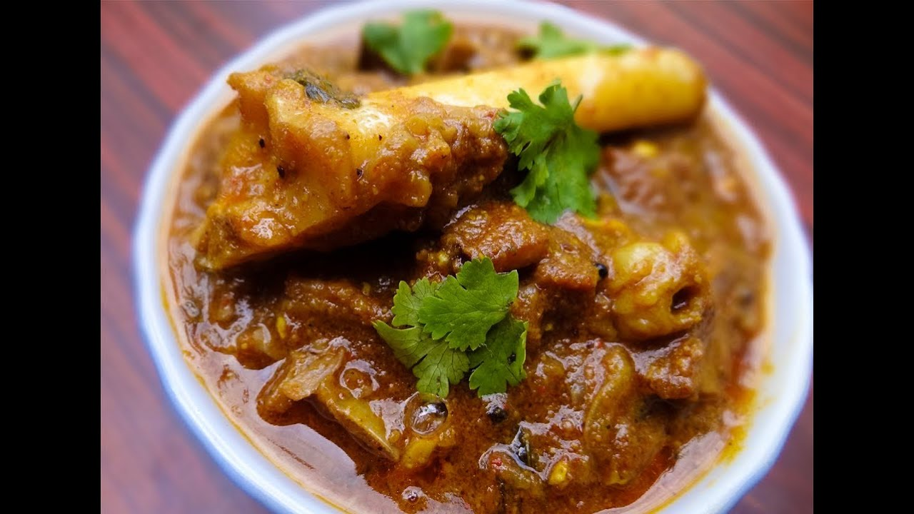 Delicious coconut mutton curry andhra style indian cuisine youtube forumfinder Image collections