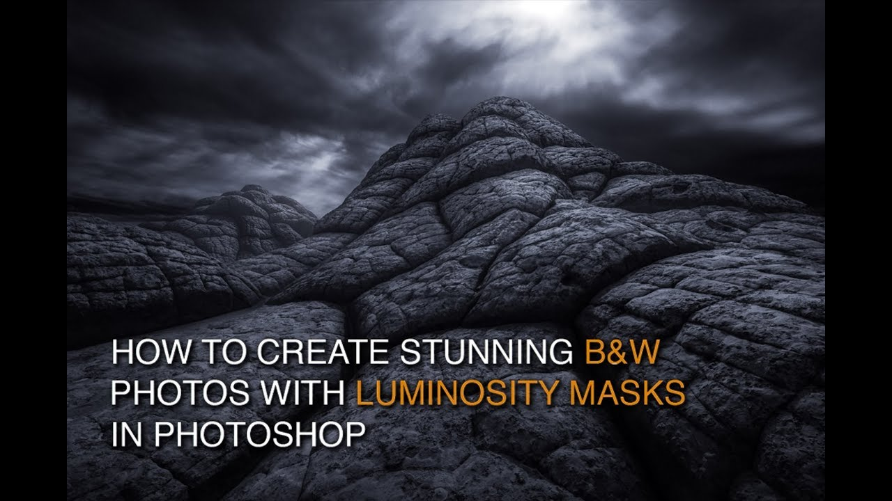 How to edit black and white images with luminosity masks