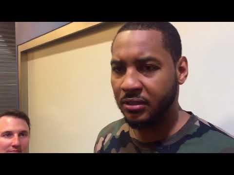 Thunder vs Jazz - Carmelo Anthony on the comeback win