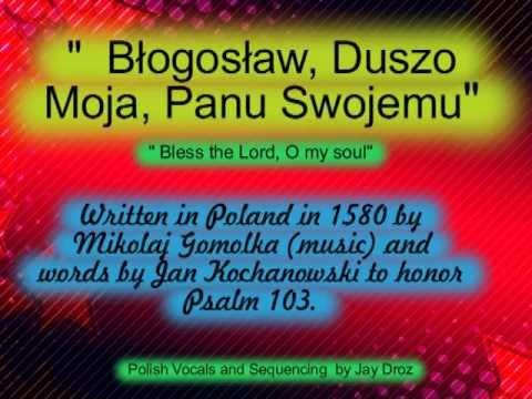 Psalm 103 - Błogosław, duszo moja, Panu swojemu, - Polish Karaoke