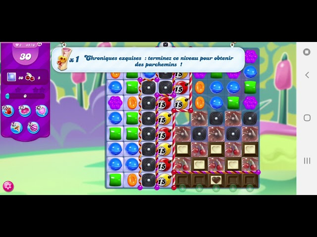Candy Crush Saga niveau 4970