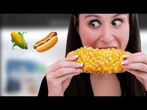CORN on the DOG **Corn on the Cob But Instead of the Corn Bone It's A Hotdog**