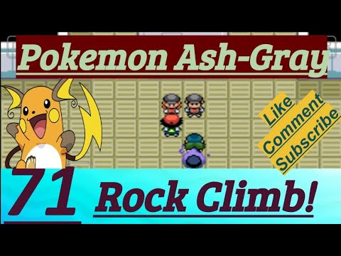 Pokemon ash gray rock climb equipment