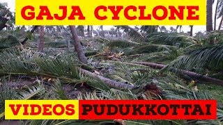 #Gaja Cyclone Videos from Pudukkottai || #GajaCyclonePudukkottai