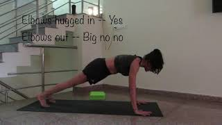 Push-ups for Beginners - Knee Push up - Prop supported Push ups