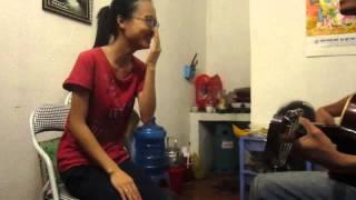 Yêu anh (Miu Lê) - acoustic cover cực hay (rehearsal vui nhộn)