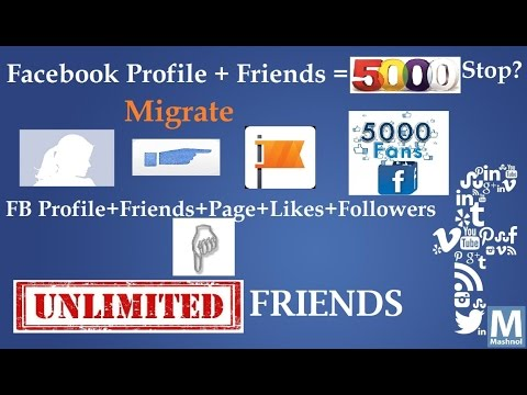 Convert Your Profile Into A Facebook Page To Add More Than 5000 Friends As Likes