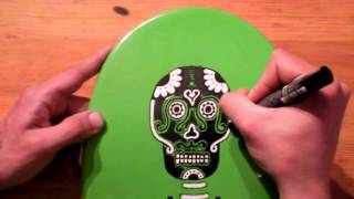 How To Paint A Skateboard #1 Skate Street Art Graffiti Posca Pens Bombing Markers Pistache Tutorial