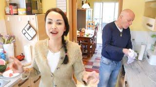 زوجي مونسني بالمطبخ 😂 تحضير الصلصة الإيطالية الخضراء اللذيذة ترافق جميع الاطباق 👍 اُمسية معنا ❤️