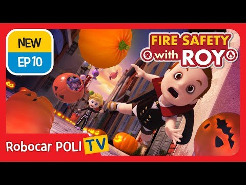 🔥Fire safety with Roy | EP10 | Stop, Drop, and Roll. | Robocar POLI | Kids animation