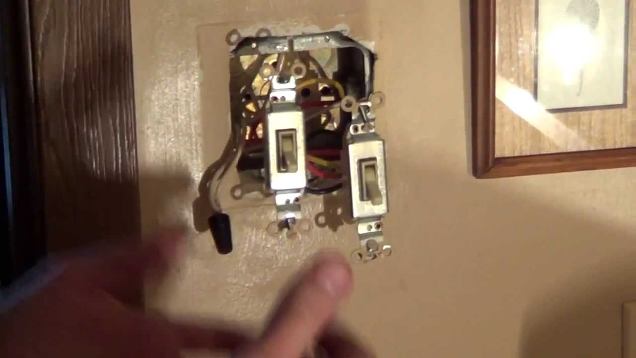 How to Wire a Double Switch  Light Switch Wiring  Conduit  YouTube