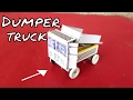 How To Make A Self Energy Dumper Truck With Match Box   Truck Without Battery Power   DIY Truck