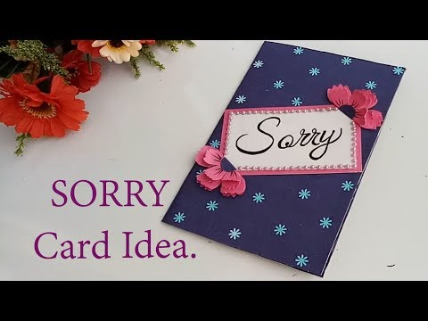 How to Make a Beautiful Sorry Card\\Sorry Card Tutorial.